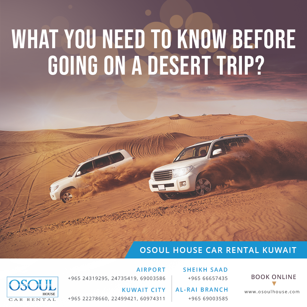 What you need to know before going on a desert trip